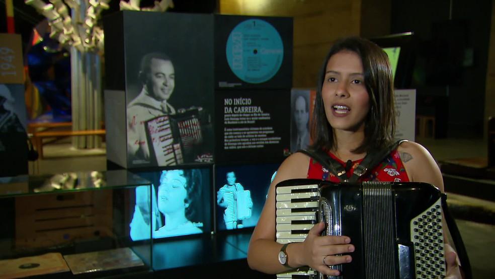 Damaris Referino tem Luiz Gonzaga como uma inspiração — Foto: Reprodução/TV Globo