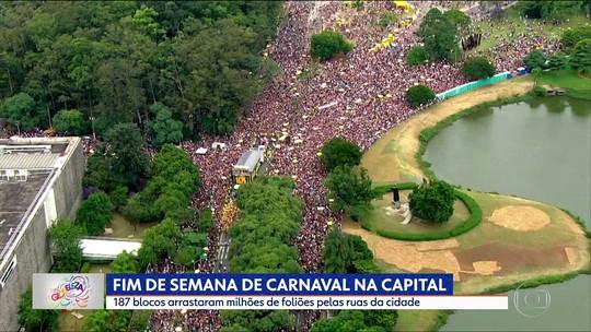 Pré-carnaval em SP reúne quase 4 milhões de foliões no fim de semana