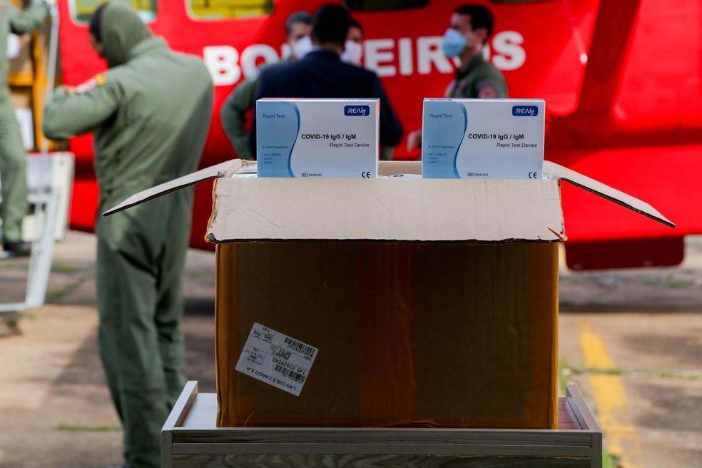 Testes rápidos chegaram com atraso de 10 dias em Rondônia, segundo governo — Foto: Divulgação/Governo de Rondônia