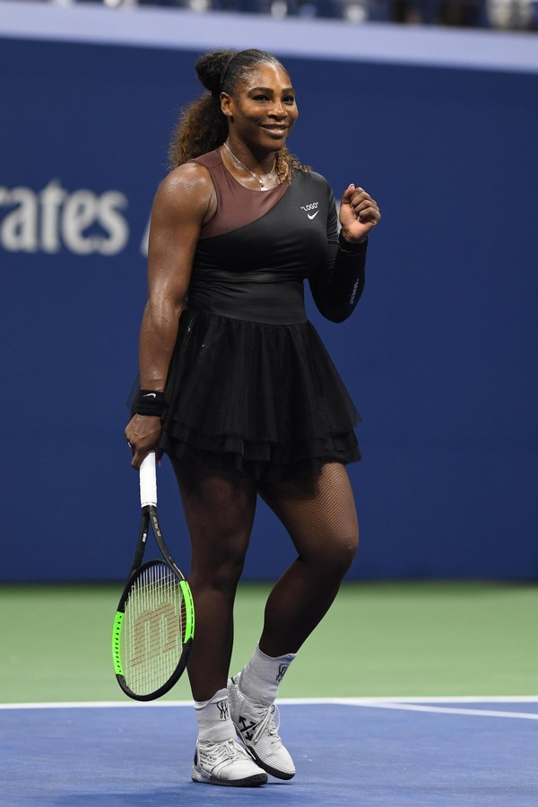 Flushing Meadows, NY  - Tennis stars compete during the 2018 Us Open in Arthur Ashe Stadium at the USTA Billie Jean King National Tennis Center on August 27, 2018 in Flushing Queens. **NO NY NEWSPAPERS**Pictured: Serena WilliamsBACKGRID USA 27 AUG (Foto: MediaPunch / BACKGRID)