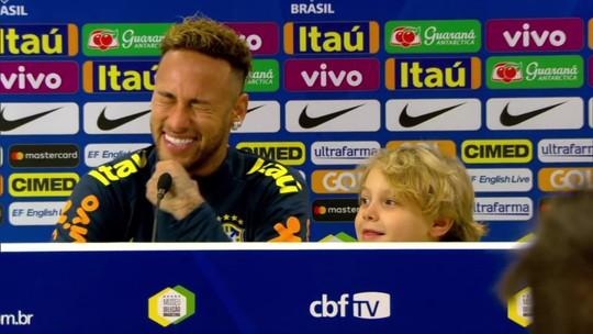 Davi Lucca pede a Neymar para Richarlison comemorar gol com dança do pombo