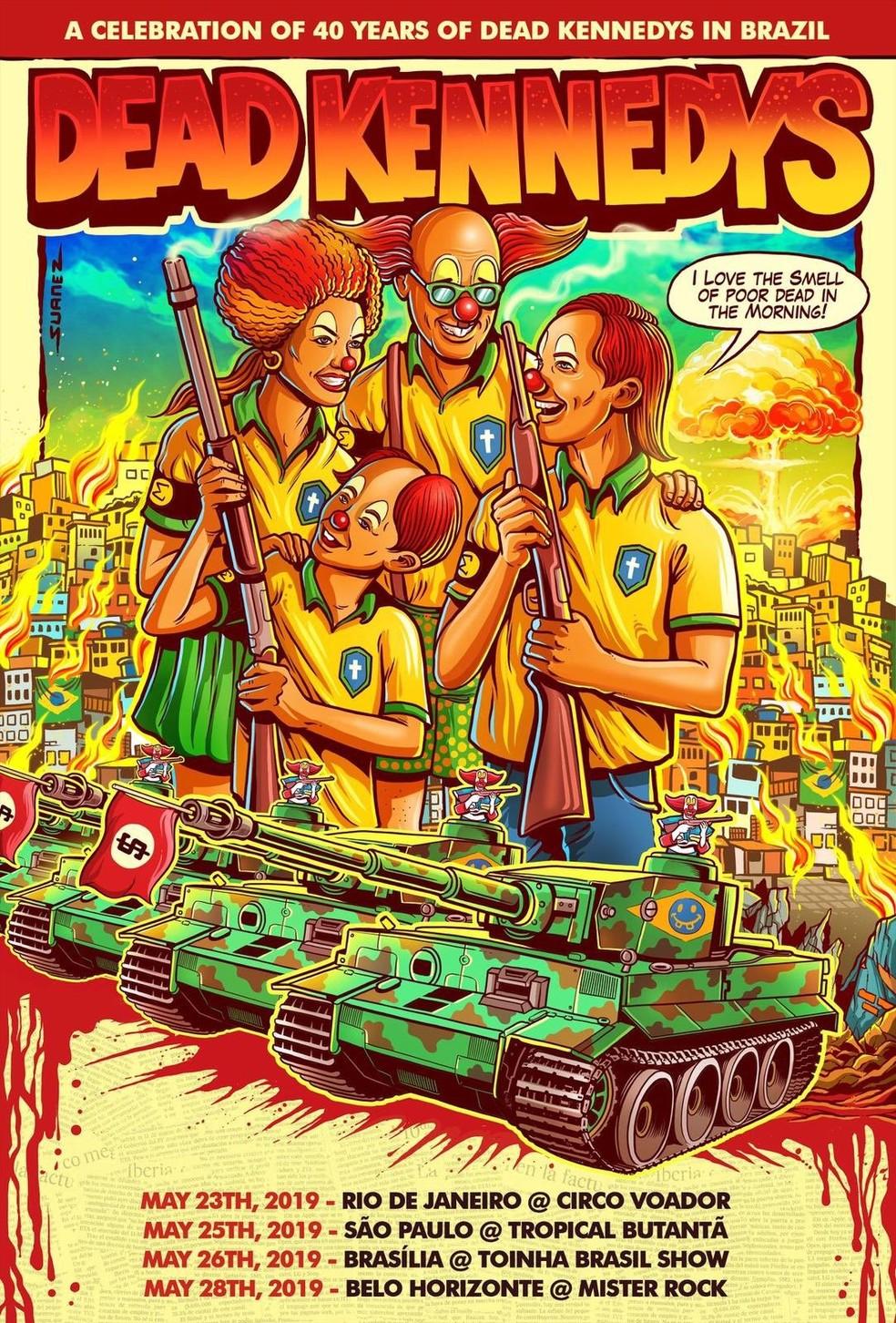 Dead Kennedys celebrará 40 anos, com turnê pelo Brasil
