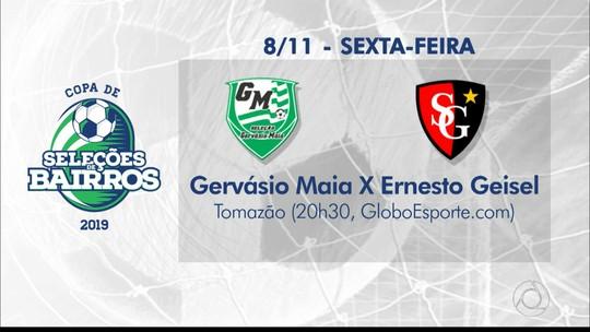 Globo Esporte: quartas de final da Copa de Seleções de Bairros têm início nesta sexta-feira