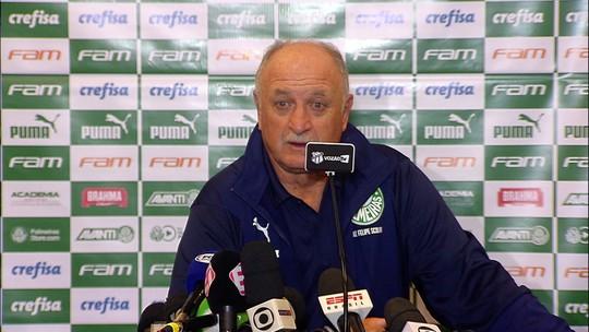 Felipão admite alerta ligado e cita nervosismo de atletas do Palmeiras em derrota no Ceará