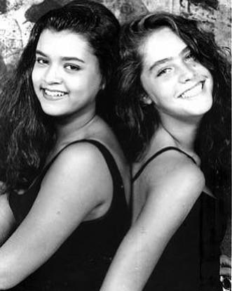 Preta Gil e Carolina Jabor nos anos 80 (Foto: reprodução/Instagram)