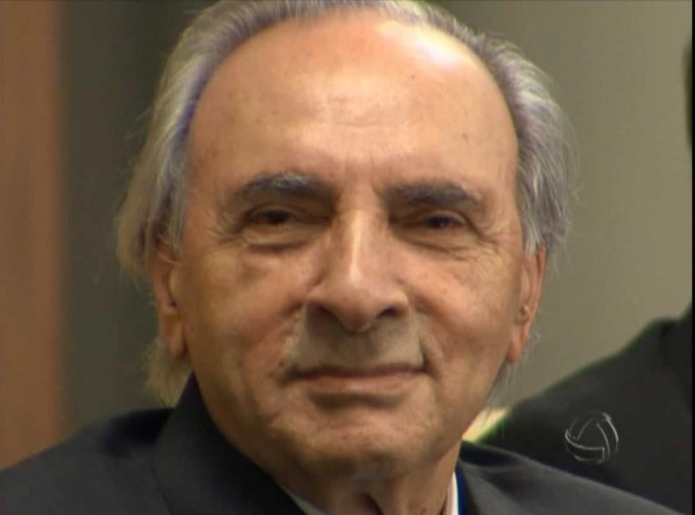 Ueze Zahran, empresário que fez parte da história de Mato Grosso do Sul e Mato Grosso.  — Foto: TV Morena/Reprodução