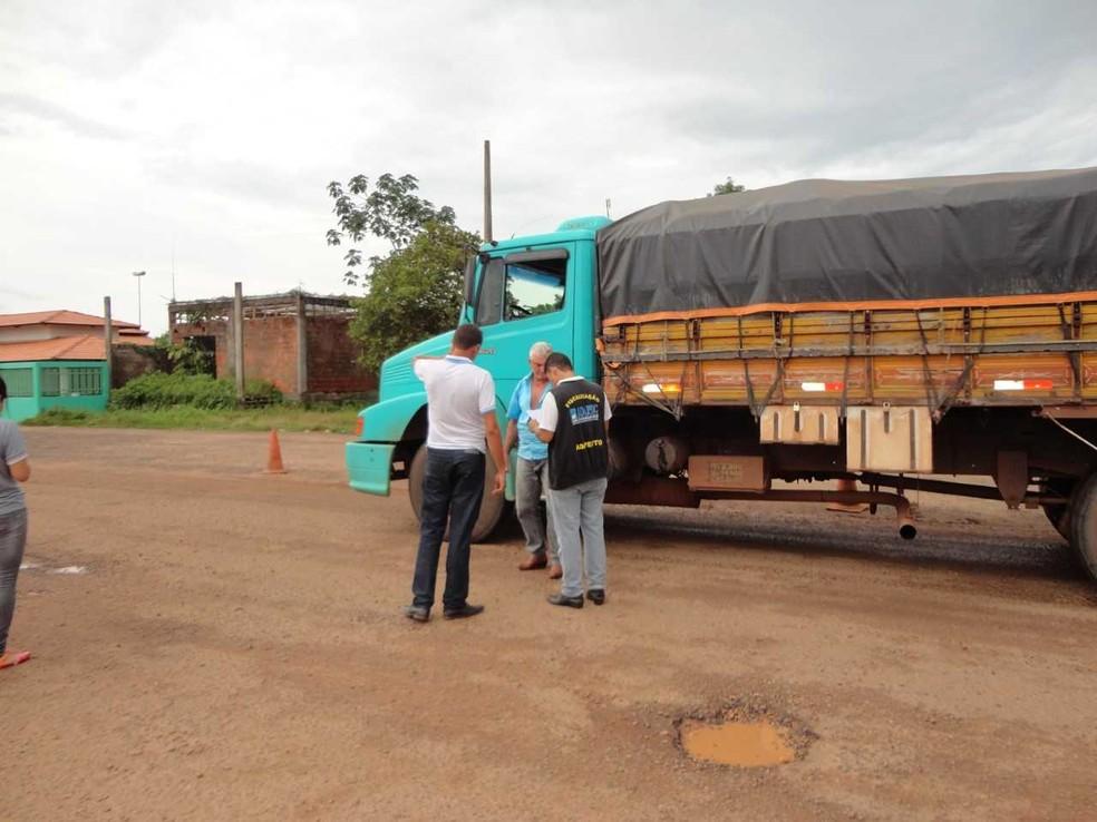 Barreira sanitária em Tocantins (Foto: Adapec/Divulgação)