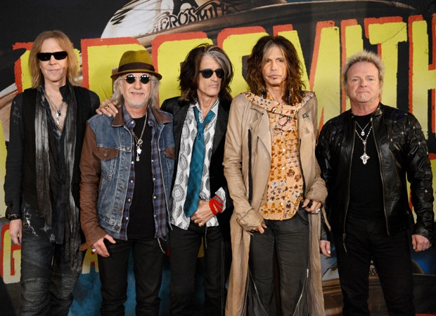 Tom Hamilton, Brad Whitford, Joe Perry, Steven Tyler e Joey Kramer (Foto: Getty Images)