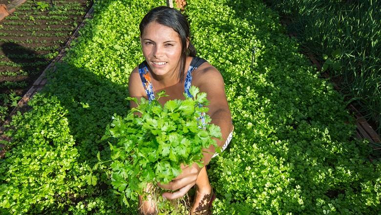 ONU-agricultura-familiar-mulher-horta-semiarido (Foto: Divulgação/ONU)