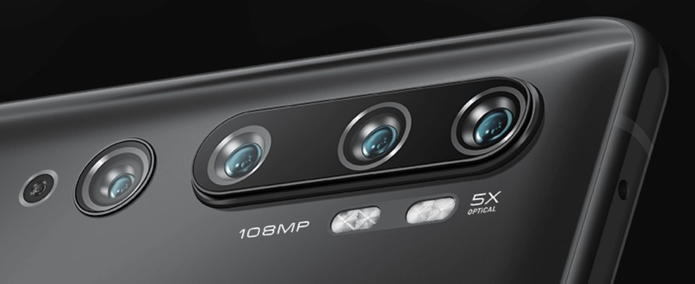 Mi Note 10 Pro possui câmera quíntupla com sensor de 108 MP — Foto: Divulgação/Xiaomi