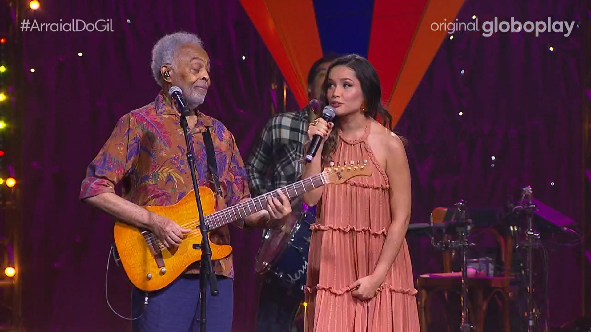 Juliette se emociona em live com Gilberto Gil: 'É uma energia tão linda'