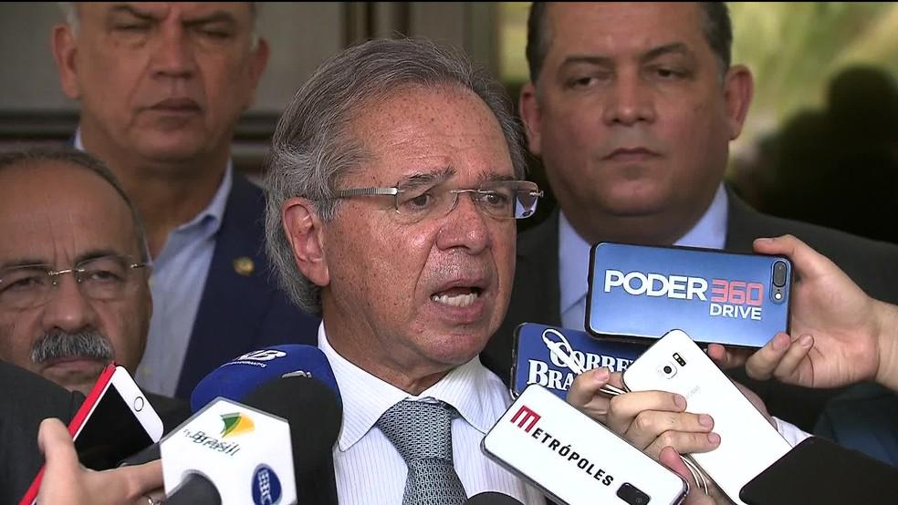 O ministro da Economia, Paulo Guedes — Foto: Reprodução/GloboNews