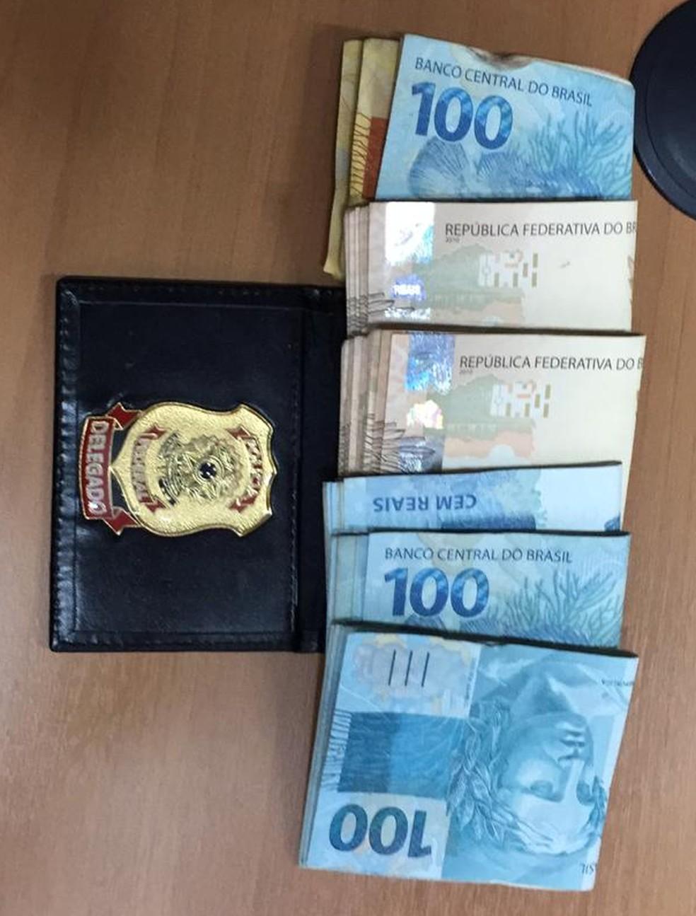 Dinheiro apreendido em operação da Polícia Federal no Maranhão contra servidores dos Correios — Foto: Divulagação / Polícia Federal
