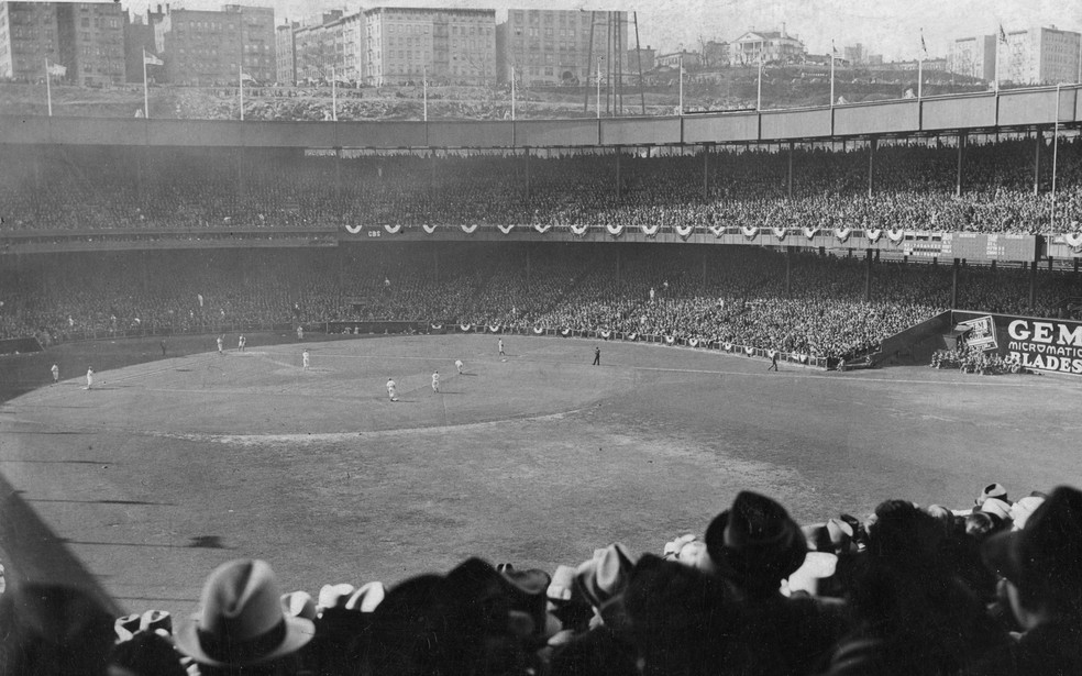 New York Yankees x New York Giants na World Series de 1923: a terceira seguida entre os dois times da Big Apple (Foto: Mark Rucker/Transcendental Graphics, Getty Images)