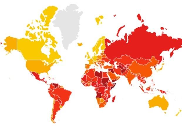 Quais são os países mais – e menos – corruptos do mundo