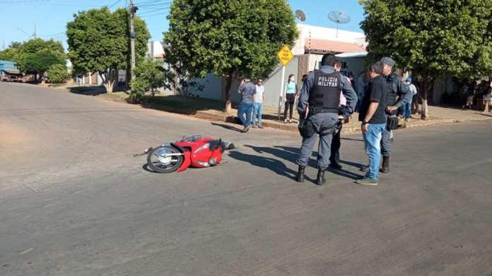 Bruna Maiara da Silva, de 19 anos, pilotava uma motocicleta e estava indo trabalhar no momento em que o acidente ocorreu — Foto: João Ricardo/Cenário MT