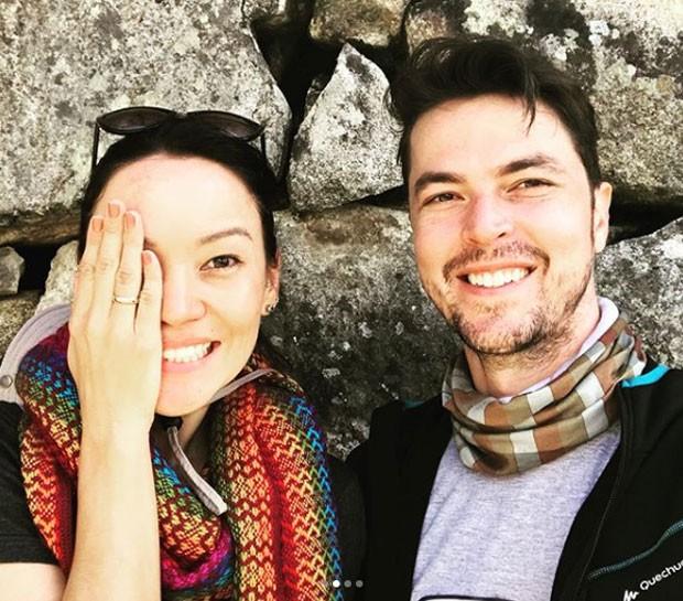 Geovanna Tominaga e o noivo, Eduardo Duarte (Foto: Reprodução Instagram)