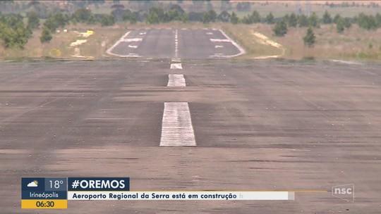 Depois de 15 anos de construção, aeroporto de Correia Pinto continua sem operações de voos