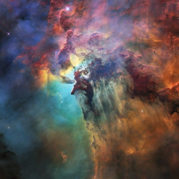 Imagem da Nebulosa Laguna para celebrar aniversário do telescópio Hubble (Foto: EFE)