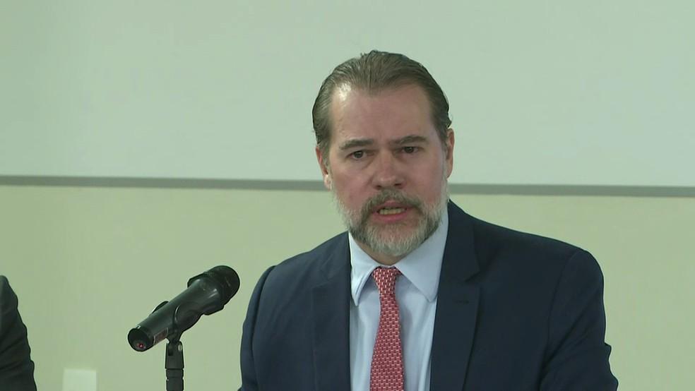 Toffoli defendeu que haja diminuição do texto na Constituição Federal — Foto: GloboNews/reprodução