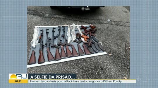Nove fuzis são encontrados em fundo falso de carro na Rodovia Rio-Santos