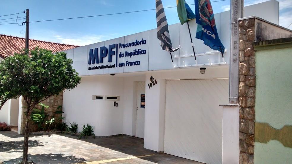 Sede do Ministério Público Federal em Franca (SP) — Foto: Reprodução/internet