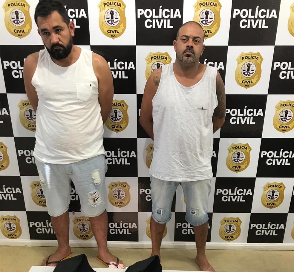 Gutemberg da Silva Borges e Jhonatan Paiva de Andrade são suspeitos de liderar quadrilha que atuava em Brasília (DF) — Foto: Divulgação/Polícia Civil do Maranhão