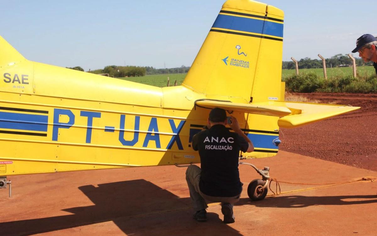 Ação de combate a aviação agrícola clandestina em MS encerra com 20 aviões interditados e R$ 3 milhões em multas