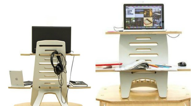 A Nómada Desk visa melhorar a qualidade de vida de quem passa muito tempo em frente a um computador (Foto: Divulgação)