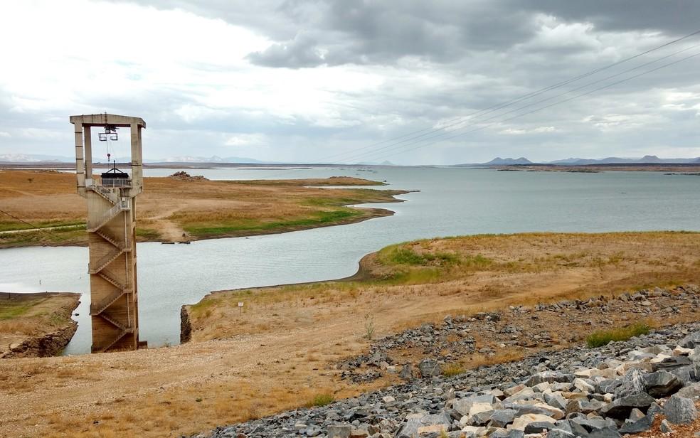 Maior reservatório do RN, Barragem Armando Ribeiro Gonçalves acumula mais de 50% da água do RN, atualmente. (Arquivo)  — Foto: Anderson Barbosa e Fred Carvalho/G1
