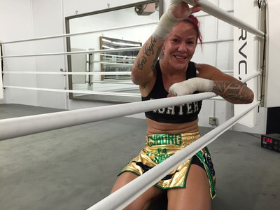 Cris Cyborg; treino; Los Angeles (Foto: Evelyn Rodrigues)