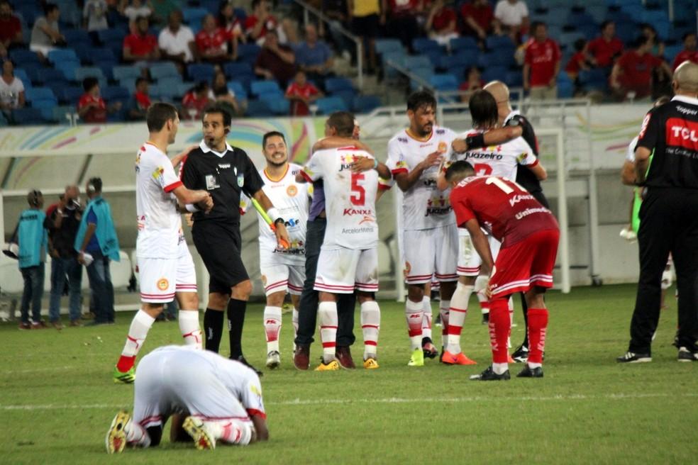 Juazeirense elimina o América-RN e conquista classificação inédita para a Série C (Foto: Diego Simonetti/Blog do Major)
