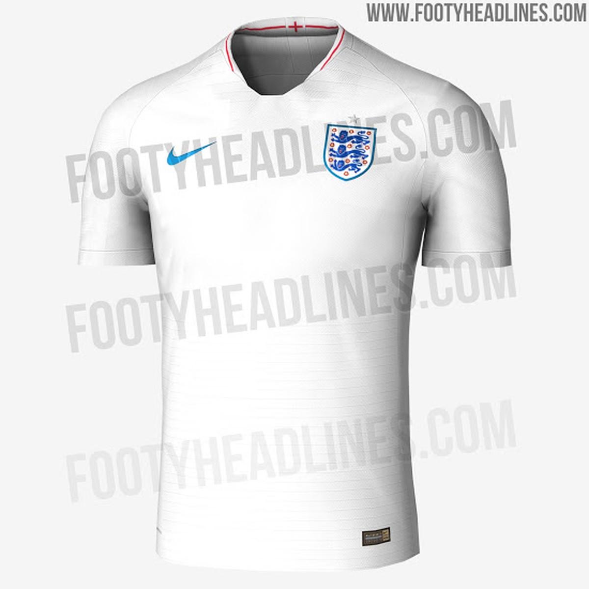 Site vaza supostas camisas de França e Inglaterra para a Copa do Mundo  0280418b35d