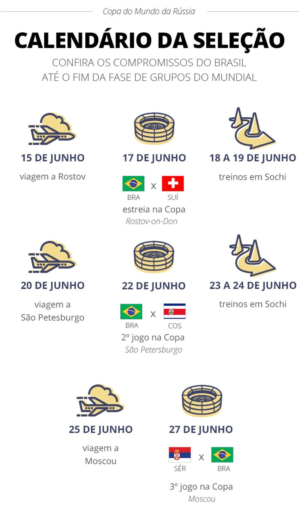Calendario Selecao 14-06-18 (Foto: infoesporte)