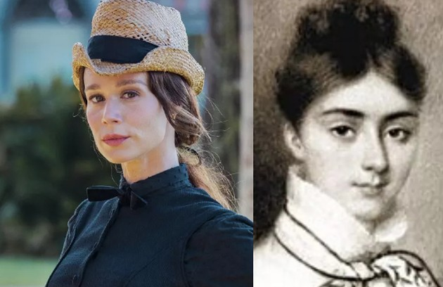 Mariana Ximenes interpretará a Condessa de Barral, preceptora das princesas Isabel e Leopoldina e amante de Dom Pedro II (Foto: Globo e reprodução)