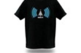 Camiseta com detector de redes sem fio