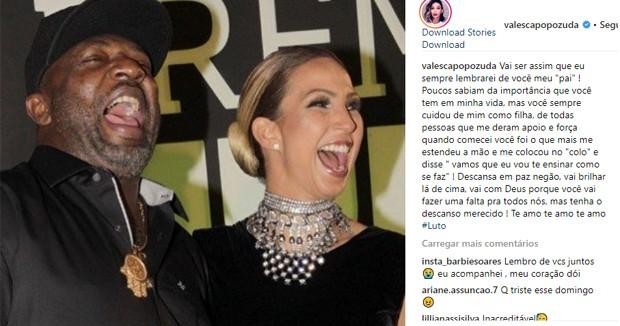 Valesca Popozuda lamenta morte de Mr. Catra (Foto: Reprodução/Instagram)