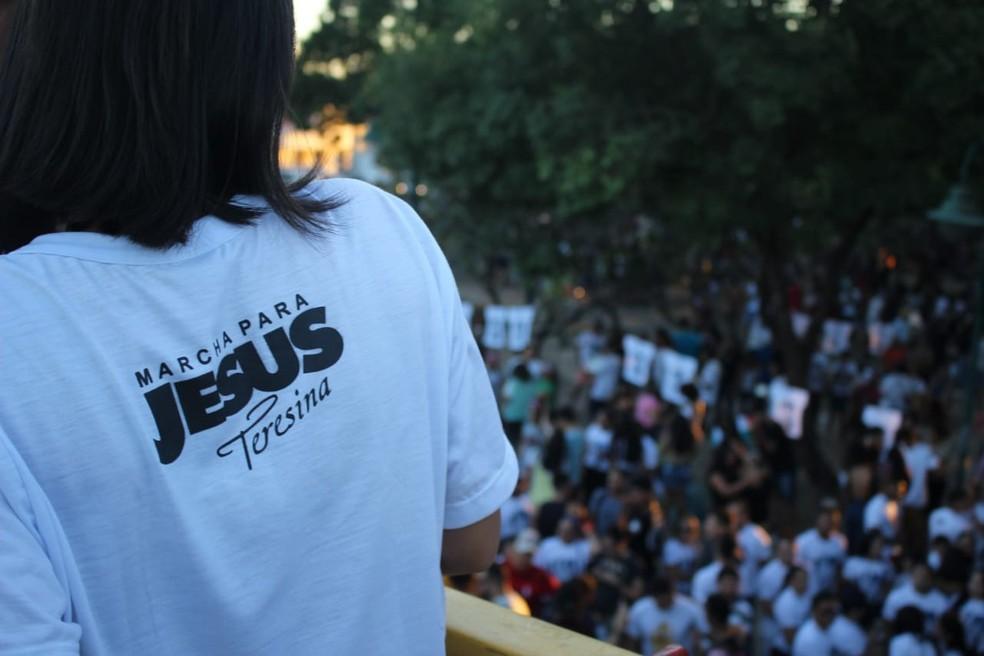 Marcha para Jesus 2019 em Teresina  — Foto: Andrê Nascimento/G1 PI