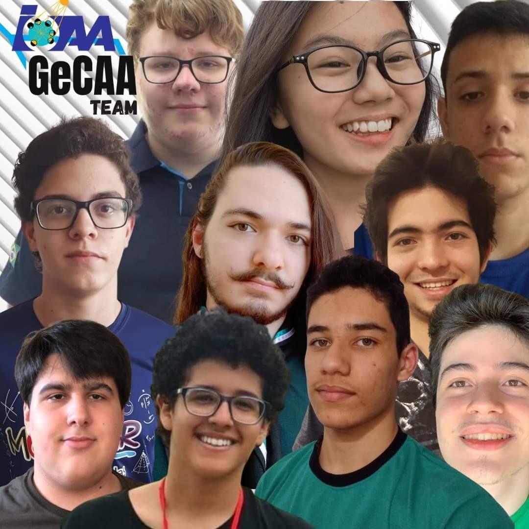 Estudantes brasileiros que participaram da categoria de grupos na Global e-Competition on Astronomy and Astrophysics (GeCAA) (Foto: Divulgação)