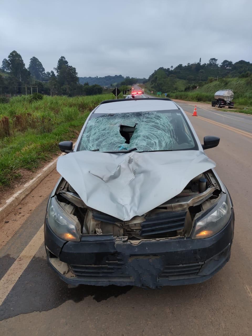 Homem morre após ser atropelado por carro na BR-146, em Botelhos, MG