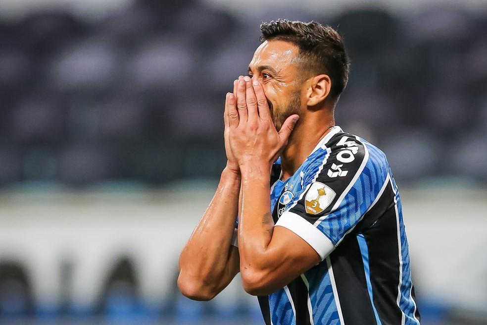 Robinho deve deixar o Grêmio ao final do seu contrato em fevereiro — Foto: Staff Images/Conmebol