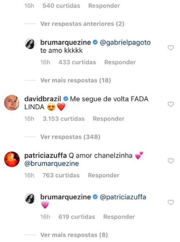 David Brazil pede para Bruna Marquezine voltar a segui-lo  (Foto: Reprodução)