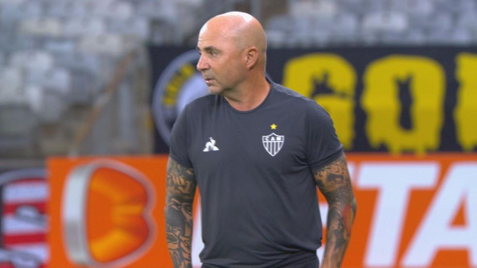 Jorge Sampaoli, técnico do Atlético-MG — Foto: Globo