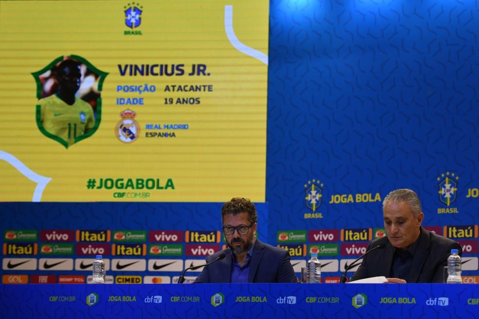 Tite, técnico da Seleção, anuncia a convocação da Seleção â?? Foto: Pedro Martins / MoWA Press