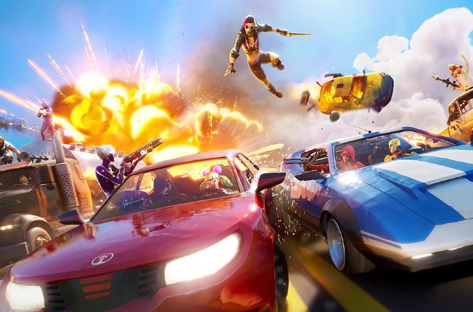Fortnite lançou atualização que permite dirigir diferentes veículos (Foto: Divulgação)