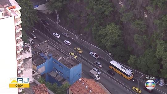 Arrastão no Túnel Santa Bárbara provoca lentidão no trânsito