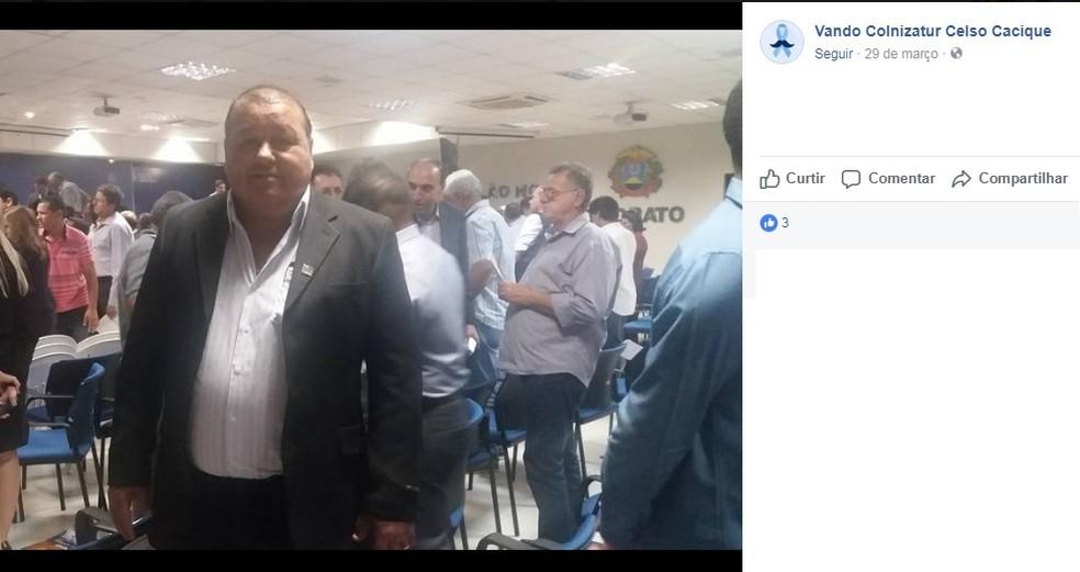 Prefeito de Colniza, Esvandir Mendes, conhecido como Vando Colnizatur, tinha 61 anos (Foto: Reprodução/Facebook)