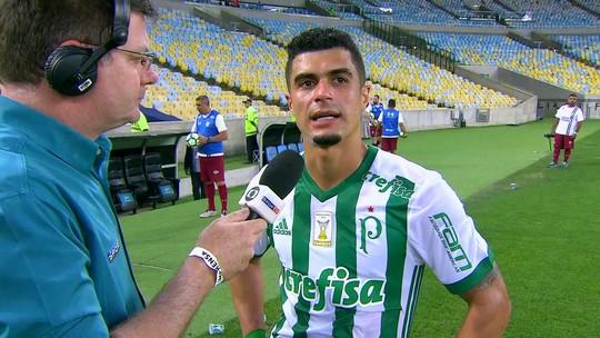 Em casa no Maracanã, Egídio agradece família e comemora golaço contra o Flu