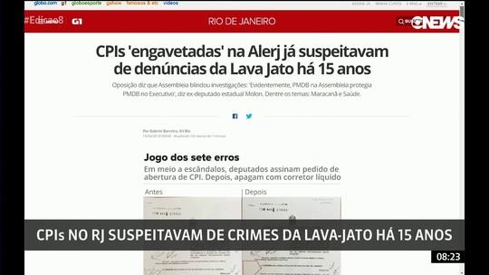 CPIs 'engavetadas' na Alerj já suspeitavam de denúncias da Lava Jato há 15 anos