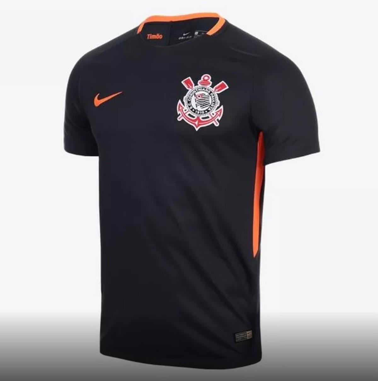 Corinthians fará estreia de terceira camisa no clássico contra o Santos  00fdb88dcd4c8